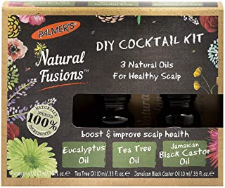 Palmer's Natural Fusions DIY Cocktail Kit, contains 3 Natural Oils for Healthy Scalp, 3 x .33 fl. oz.