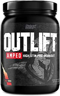 Nutrex Research Outlift Amped   Premium High Stim Pre Workout for Men and Women with Intense Energy & Focus, Increase Pump...