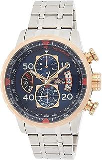 Invicta Men's 17203 AVIATOR Analog Display Japanese Quartz Silver Watch