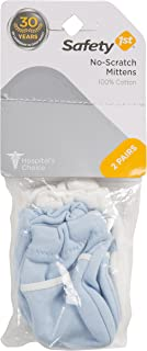 SAFETY 1ST No Scratch Infant Mittens, Blue (Pack of 2)