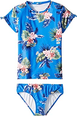 Retro Tropic Short Sleeve Surf Set (Little Kids/Big Kids)