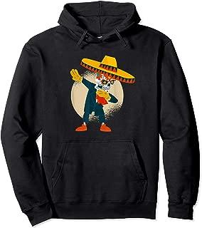 Funny Dabbing Mexican Skull Sombrero Dia De Los Muertos Pullover Hoodie