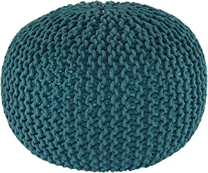 Signature Design by Ashley Ashley Furniture Nils Pouf, Teal