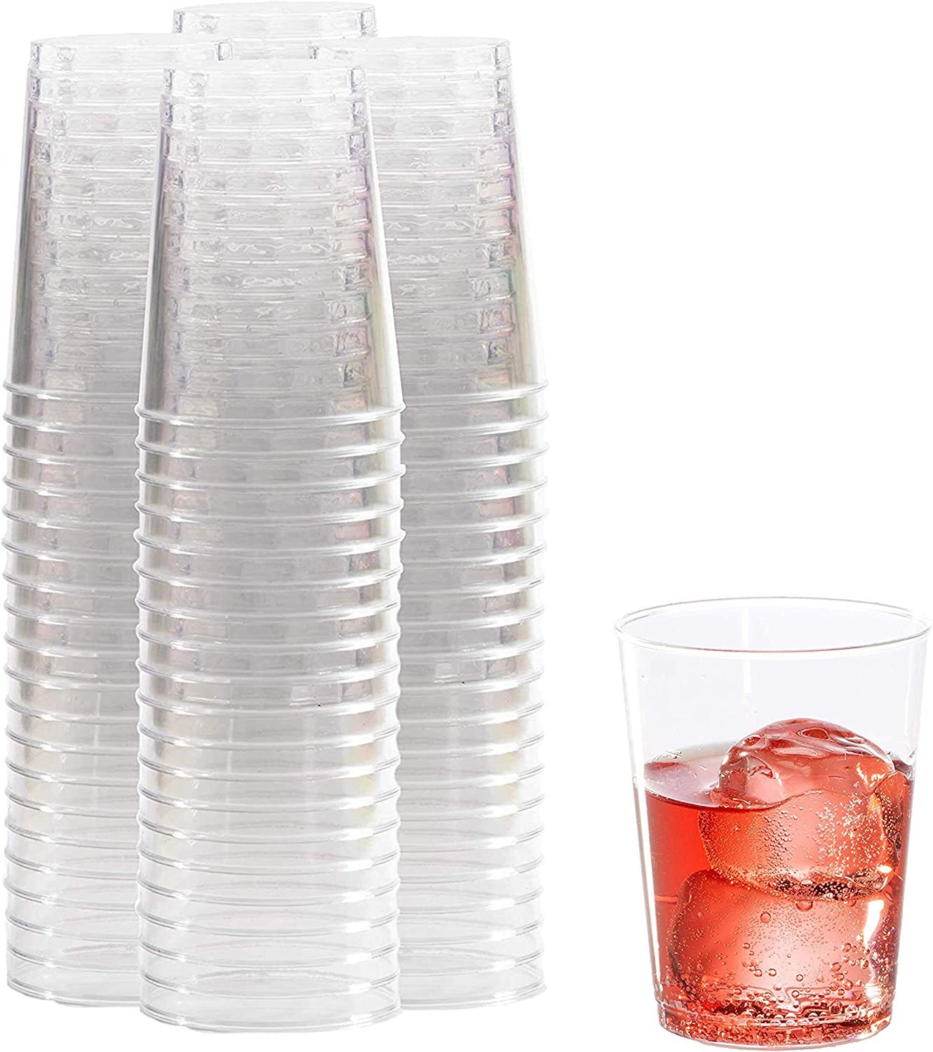 10 oz Clear Plastic Cups 100 67% OFF of fixed price Nippon regular agency Party C Pack Tumbler Disposable