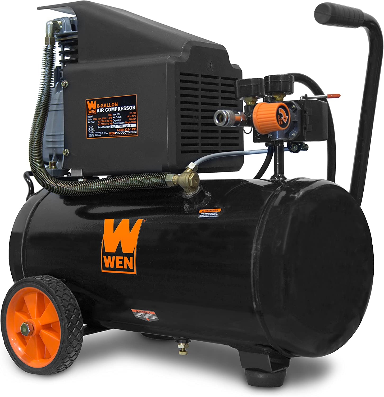 WEN 2287 Oil-Lubricated Portable Horizontal Air Compressor
