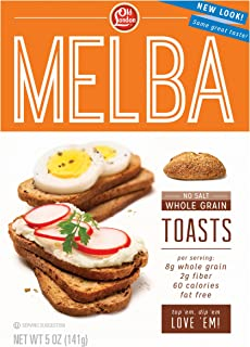 Old London, Melba Toasts, Salt Free Whole Grain, 5 Ounce (Pack of 12)