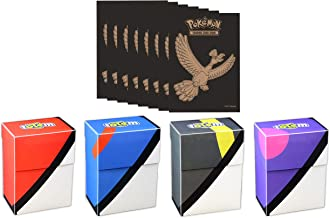 Totem World Pokeball Deck Box with 65 Pokemon Sleeves from Elite Trainer Box for Pokemon Cards