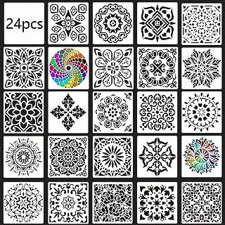 DAHI Mandala Dotting Schablone, 24 Stück Sortierte Muster W