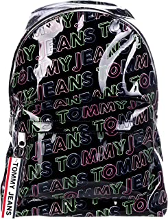 Tommy Jeans Logo Tape Backpack PU PT, Black, AW0AW07634