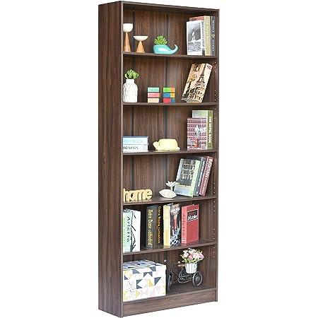 DeckUp Muvo Large Book Shelf (Walnut, Matte Finish)