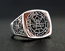 Secret Seal Of King Solomon Ring with 925 Sterling Silver Size 6-15