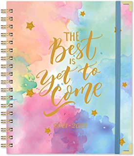 """2021 Planner - Weekly & Monthly Planner, Thick Paper with Colorful Tabs - 8.9"""" x 11.3"""", Twin-Wire Binding with 11 Notes Pa..."""