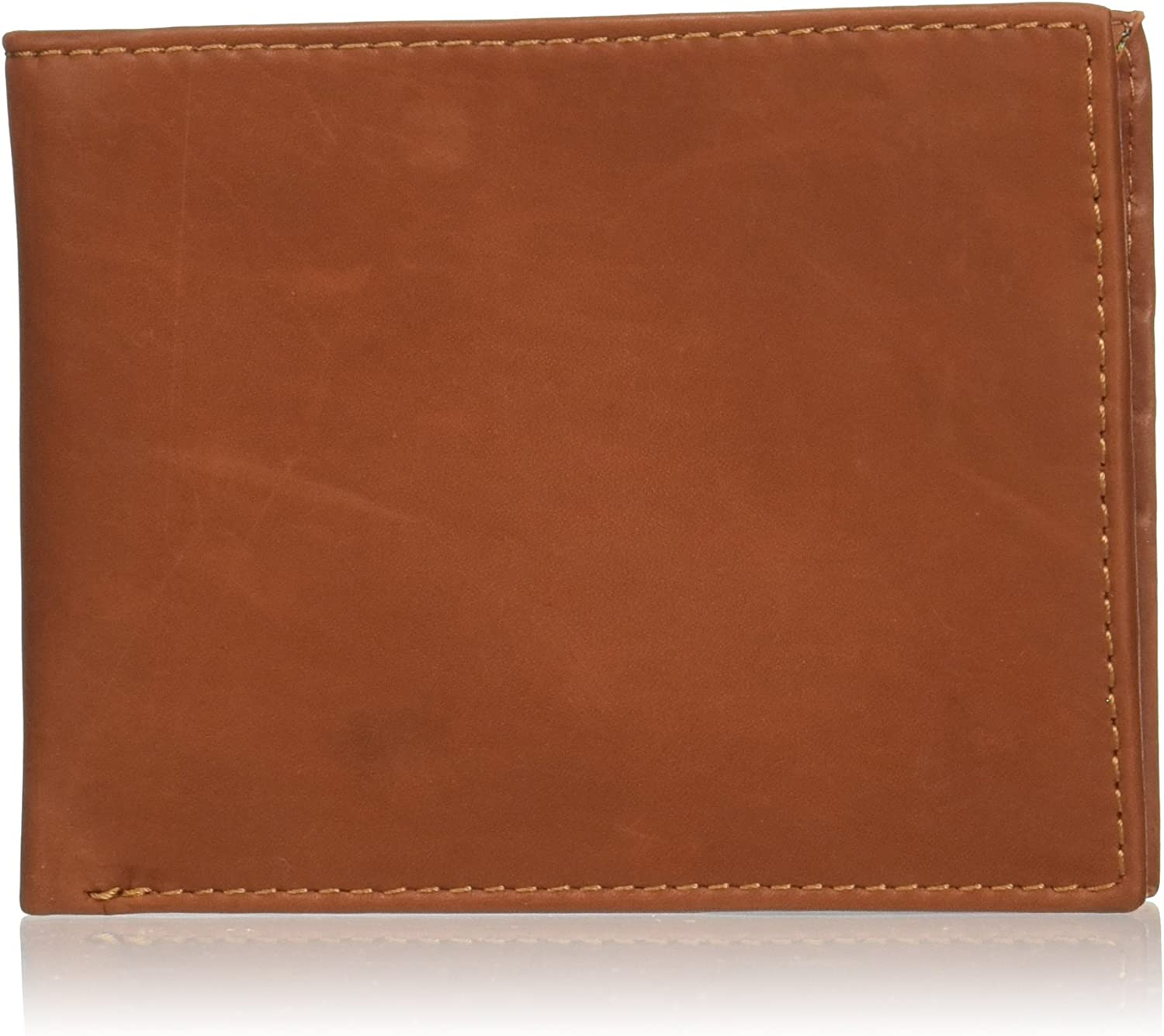 """Style n Craft 200160-TN Slim Bifold Wallet in High Grade Cow Leather, Closed : 4-1/2""""Wx3-1/2""""H"""