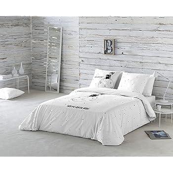 La Volátil Hoy me quedo aquí Funda nórdica, 100% algodón, Blanco, Cama 135 cm, 1600: Amazon.es: Hogar