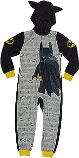 Batman Boys Costume, Onesie Pajama, All-in-One Set, Black Yellow,sizes 4/5 to 10/12