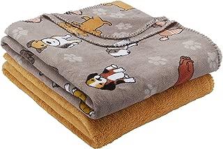 Mainstays Fleece Plush Throw Blanket, 2pk, Dogs