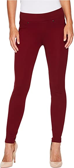 Piper Hugger Pull-On Leggings in Silky Soft Ponte Knit with Lift and Shape Qualities in Wine