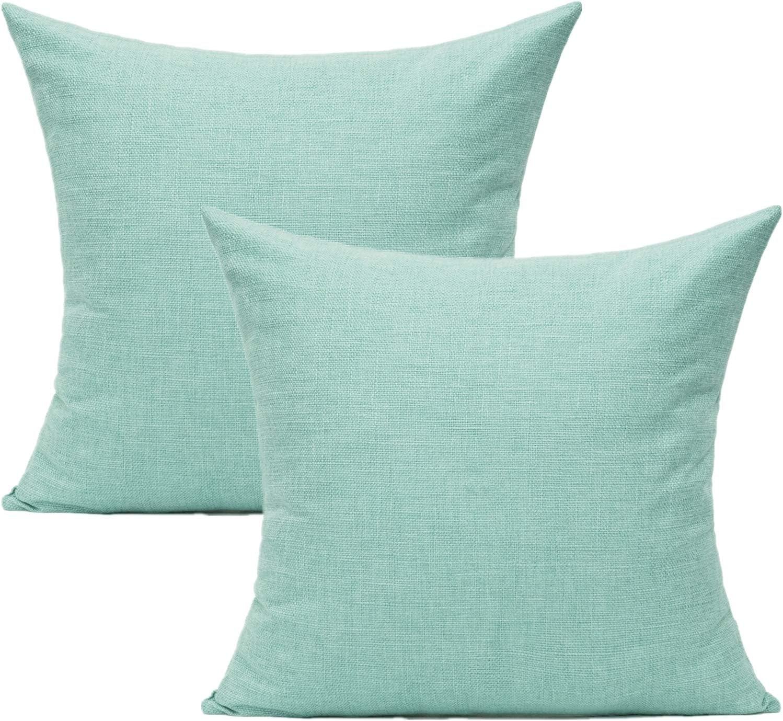 All Smiles Alternative dealer Aqua Mint Throw Pillow Outdoor Max 78% OFF Furni Patio for Covers