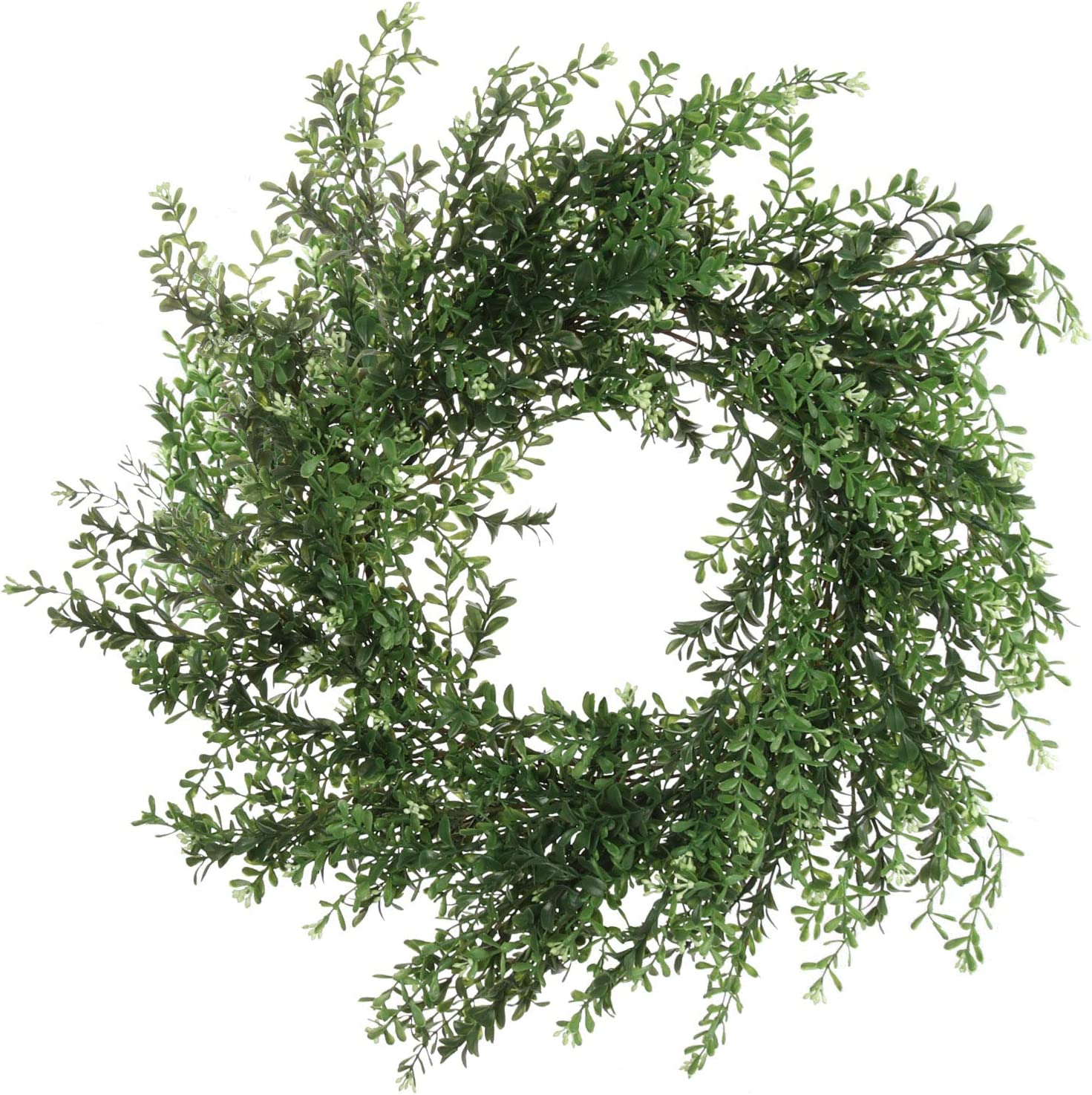 20 Inch Boxwood Wreath Indoor Round Safety and trust Outdoor Green Bambo ! Super beauty product restock quality top!