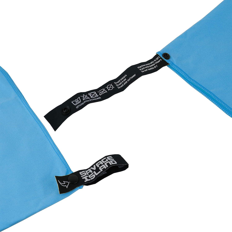 Ultra leicht /& Schnelltrocknend Strand /& Sport Fitness Handtuch und Sporthandtuch inkl Tasche Microfibre Gym Towel Savage Island Mikrofaser Handt/ücher Sauna Handt/ücher f/ür Reise