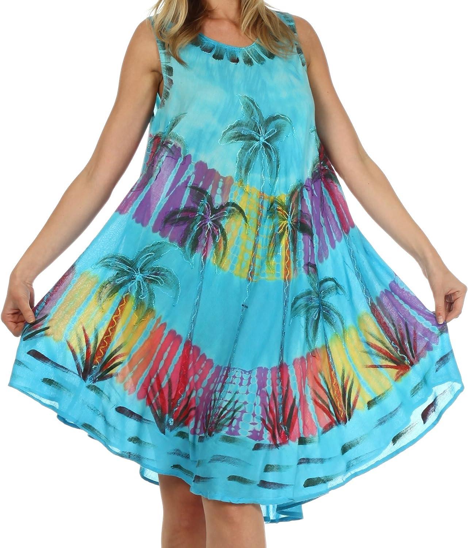 Sakkas Palm Tree Tie Dye Caftan Dress//Cover Up