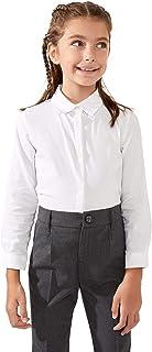 DeFacto Camicia a maniche lunghe da ragazza, in cotone, 28% elastan, 4% poliestere, 68%