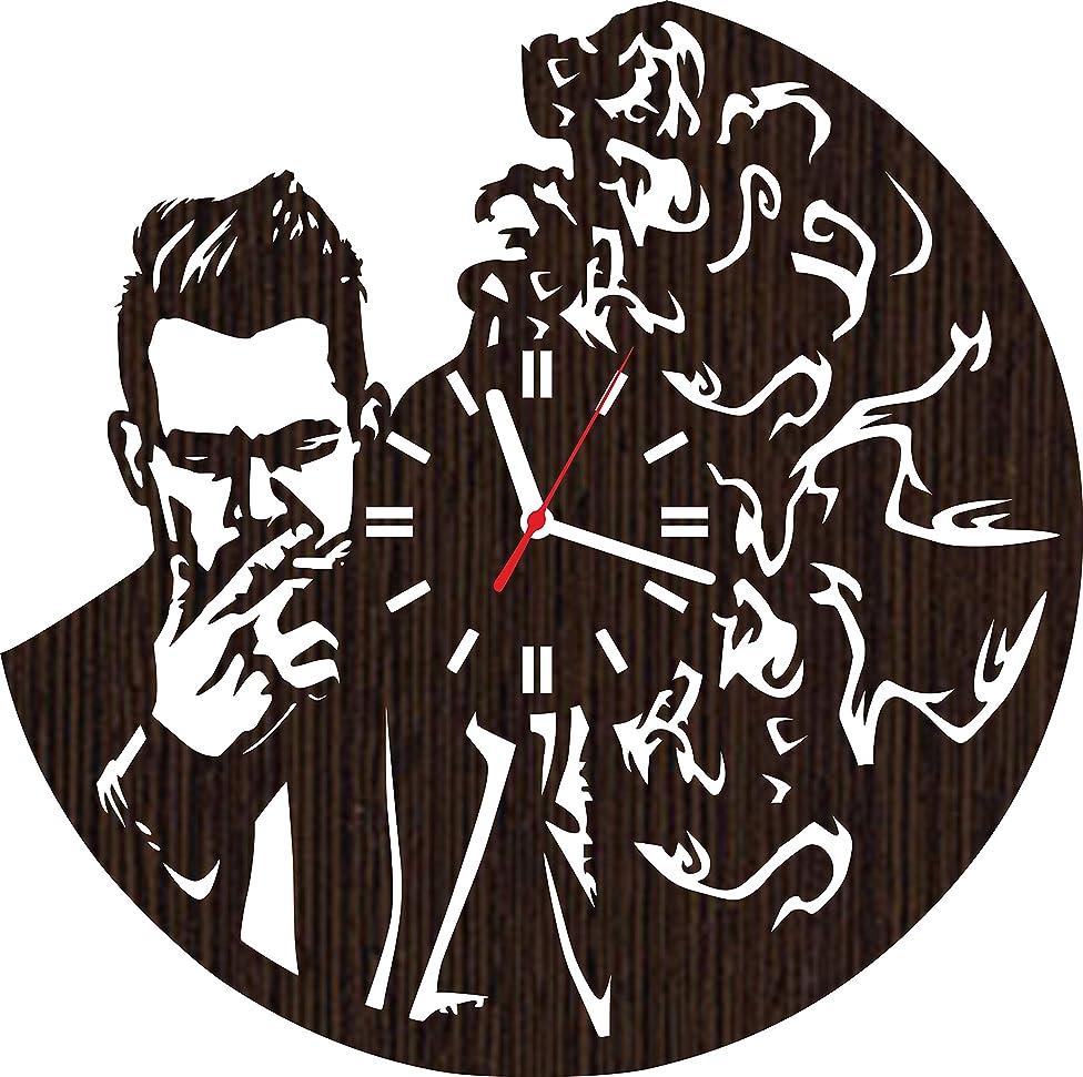 Handmade Wooden Wall Clock Panic at The Disco Rock Band Gifts for Men Women him her Music Lover Fan Musicians Merchandise Guitarist Drummer cd Vinyl Birthday Christmas Office Accessories Items