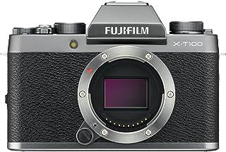 Fujifilm X-T100 Mirrorless Digital Camera, Dark Silver (Body Only)