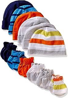 Onesies Brand Baby Boys' 12-Piece Cap and Mitten Set