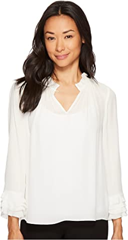 Rebecca Taylor - Long Sleeve GGT Ruffle Top