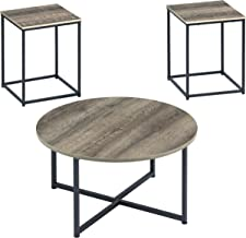 Signature Design by Ashley - Wadeworth Distressed Occasional Table Set of 3, Two-tone Wood