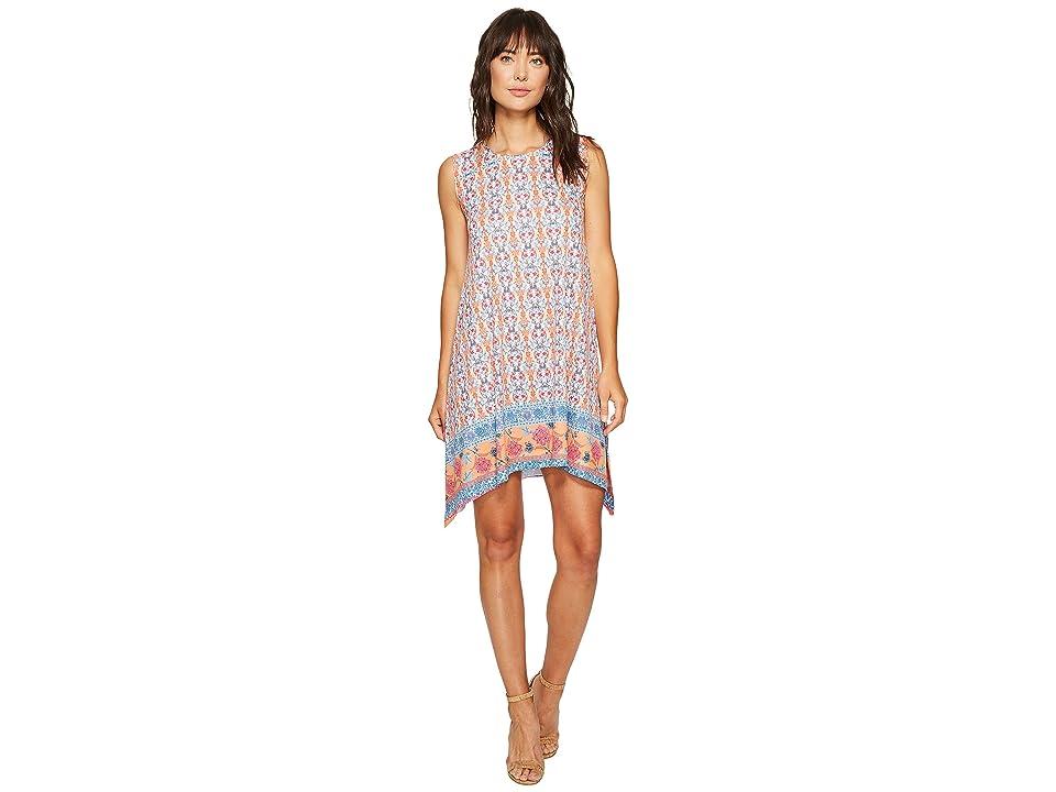 Nally & Millie Border Print Dress (Multi) Women