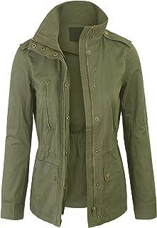 BOHENY Womens Military Safari Anorak Jacket with Pockets