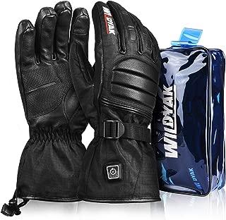 Heated Gloves for Men&Women, Rechargeable Electric Heated Gloves for Skiing, Heated Mittens for Raynaud's, Arthritis