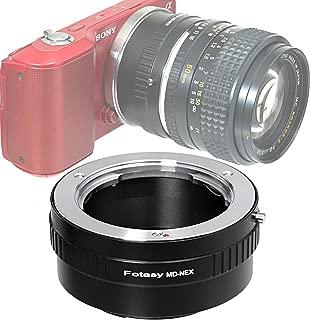 Fotasy Minolta MD Rokkor Lens to Sony E-Mount Adapter, MD to E-Mount, MD Adapter to E Mount, fits Sony NEX-5T NEX-6 NEX-7 a3000 a3500 a5000 a5100 a6000 a6100 a6300 a6400 a6400 a6500 a6600