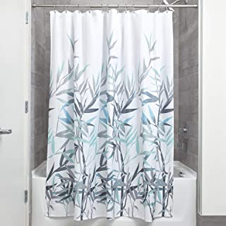 iDesign Anzu Fabric Shower Curtain Water-Repellent and Mold- and Mildew-Resistant for Master, Guest, Kids', College Dorm Bathroom, 72