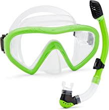 Kids Snorkel Set Underwater Mask & Snorkel Set Comfortable Double Lens Snorkeling Mask & Breathing Tube with Flexible Silicone Mouthpiece – Swimming & Diving Gear with Anti-Leak Design