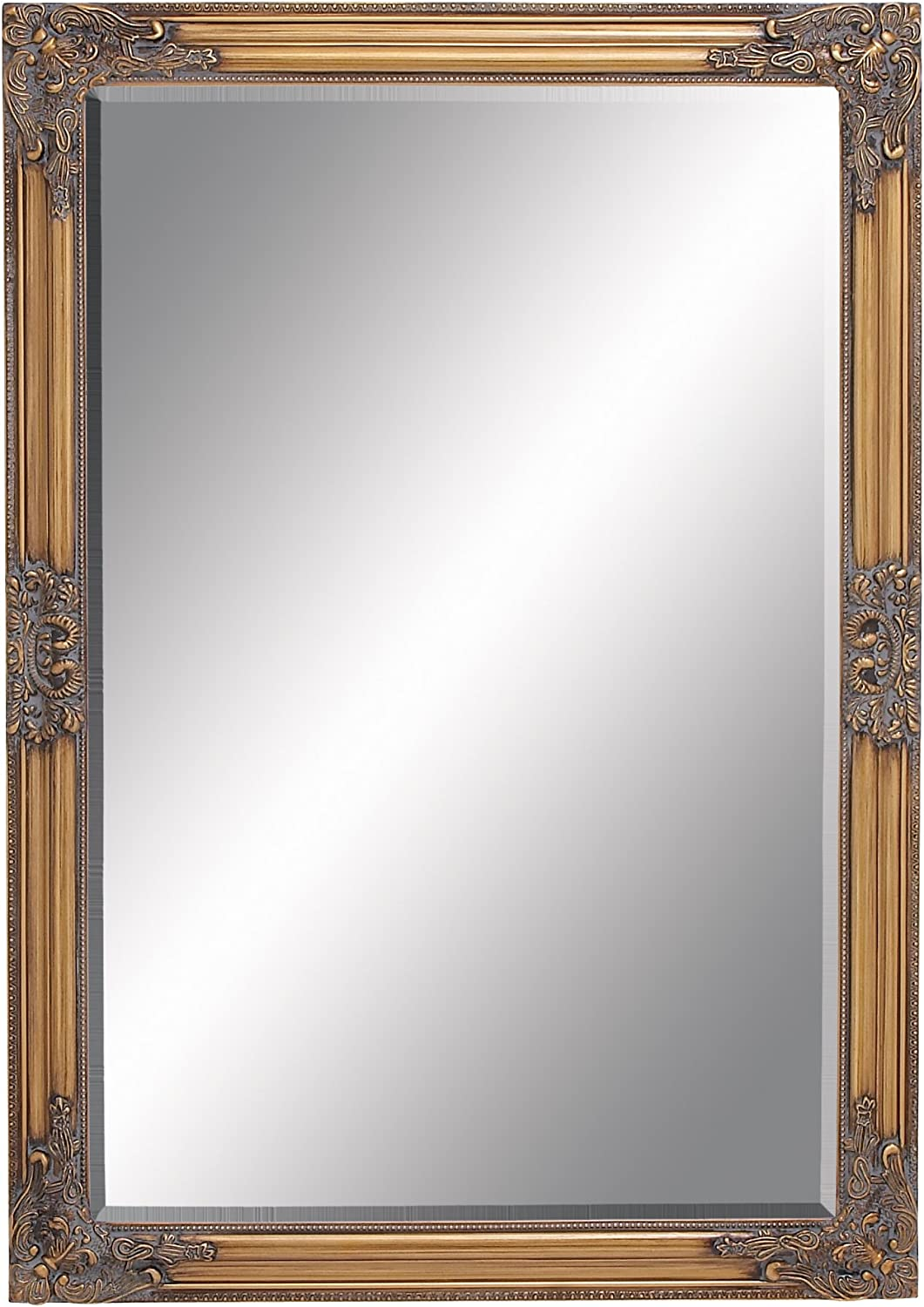 Deco 79 92759 Wood Beveled Mirror 28 by 40