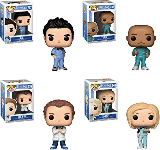 Funko TV: Pop! Scrubs Colectors Set - J.D., Turk, Dr. Cox, Elliot