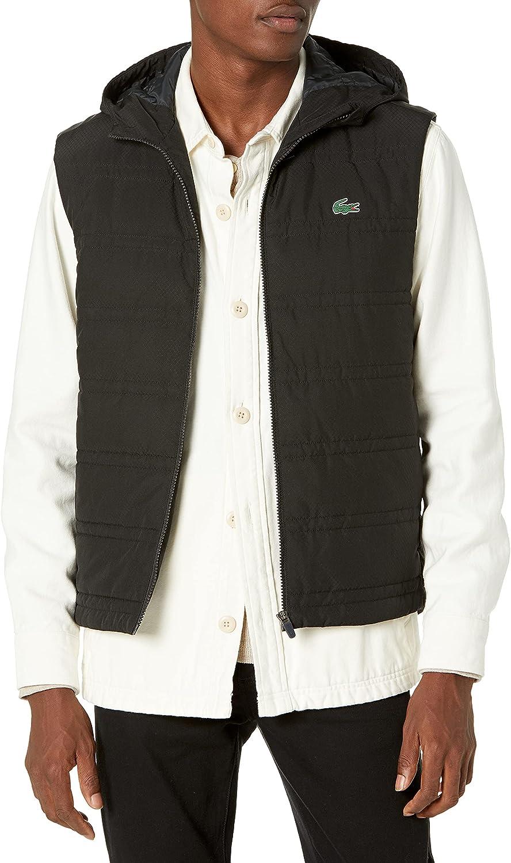 Lacoste Mens Sport Hooded Padded Training Vest