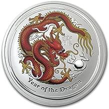 2012 AU Australia 5 oz Silver Year of the Dragon BU (Colorized) Silver Brilliant Uncirculated