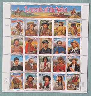 Legends of the West Complete Pane of Twenty 29 Cent Stamps Scott 2869 By USPS