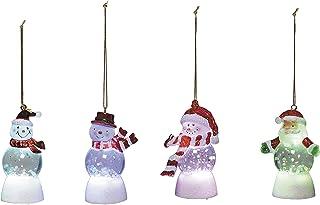 Jardin Scrox 1 Pcs Ornement de Noël Figurine de Noel Père Noël Bonhomme de Neige Élan de Noël Décorations pour Arbres de Noël 18 19cm Décoration d'extérieur