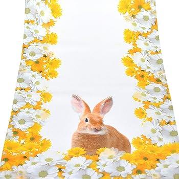 Tschläufer 40x140 cm OSTERHASEN hochwertige Stickereien Applikationen Frühling