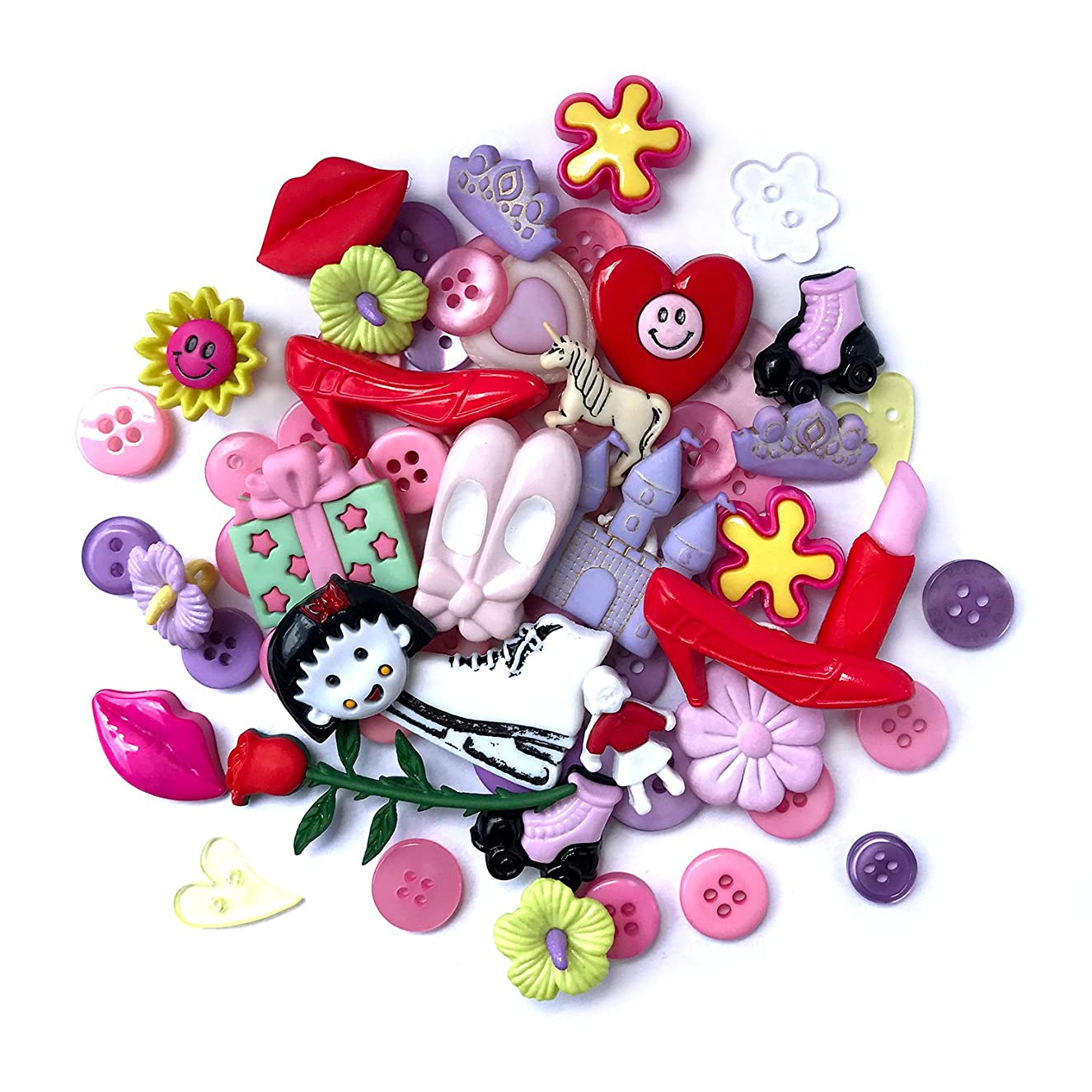 Buttons Galore 50-Value Pack Girls Button
