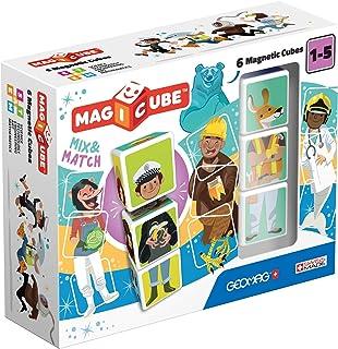 Geomag 123 Magicube Mix & Match - Magnetic Construction Set, 6-Pieces