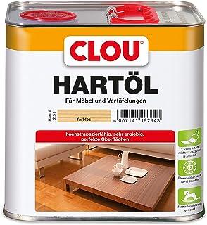 CLOU Hartöl: Zur Renovierung und Pflege von stark beanspruchtem Massivholz, z.B. Treppen, Möbel und Parkett, farblos, 2,50 L
