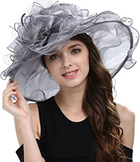 Janey&Rubbins Women's Kentucky Derby Racing Horse Hat Church Wedding Dress Party Occasion Cap