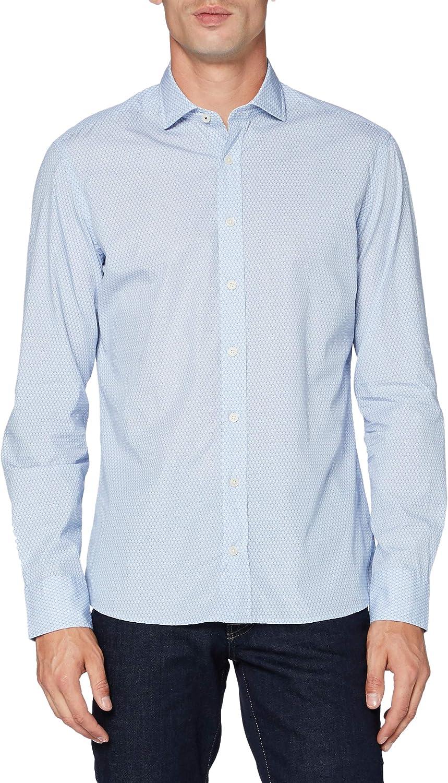 Hackett London Tennis Racket Print Camisa para Hombre