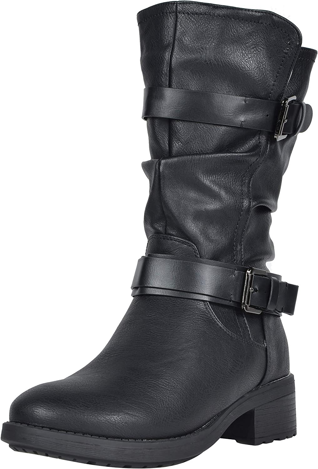 DREAM PAIRS Max 52% OFF Women's OFFicial mail order Faux Fur Mid Winter Riding Boots Calf